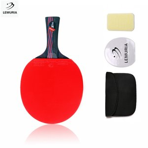 Lemuria Professional carbon fiber table tennis racket with double face pimples-in table tennis rubber FL CS handle ping pong bat T190927