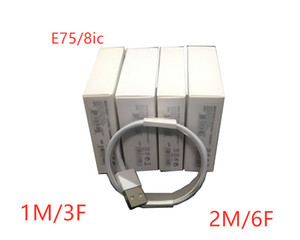 100pcs 6 generations OEM quality E75 8ic 1m 3ft 2M 6ft USB Data Sync Charge Phone Cable With retail packing box