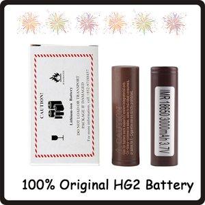 100% authentique 18650 HG2 3000mAh capacité max 35A Batteries de décharge élevée batterie au lithium rechargeable HG2 pour cigarette électronique 100W