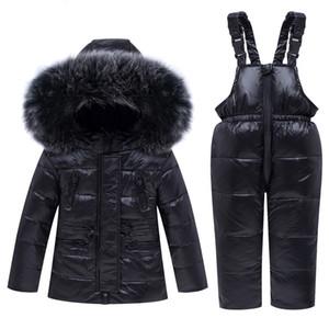 -30 degrés 2019 nouveaux vêtements d'hiver bébé garçon fille Set Down Jacket manteau vêtements de neige enfants Parka vêtements de ski combinaison