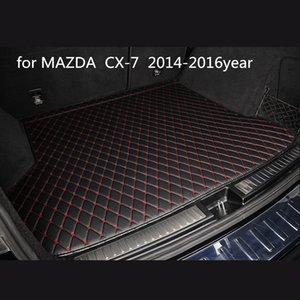 Su misura anti-skid tappetino tronco tappeto auto pelli per MAZDA CX-7 2014-2016year stuoia antiscivolo