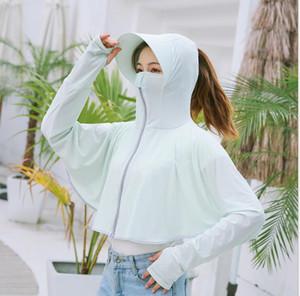 Signore di Estate Ice cream sun block Abbigliamento Outdoor Car Sun Block viso Protezione Uv Con Cappuccio Sun Block Scialle