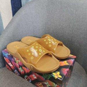 Louis Vuitton scarpe da uomo di lusso Comfort sandali estivi spiaggia degli uomini infradito Sandali Open Toe pistone dell'interno esterno infradito 35-45 Scarpe Uomo QQ2