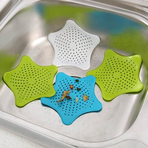 Salle de bain cheveux toilettes sucker silicone salle de bain évier égout Pentagram Anti-blocage des accessoires de salle de bain évier