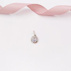 Authentique Argent 925 Perles Radiant Pandora Logo Charms Pendentif Cz Effacer Fits Bijoux Europe Style Pandora Bracelets Collier 39