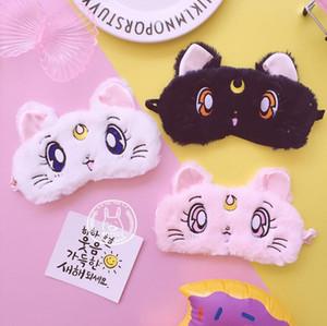 Cartoon Sailor Moon Eau Ice Moon Chat Masque Pour Les Yeux Sommeil Respirant Étudiant Masque Masque Pour Les Yeux Fille Couvercle Des Yeux Masque De Sommeil