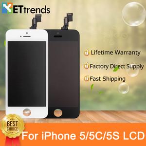 Display für iPhone 5 5s 5c SE Lcd-Bildschirmmontage-Fabrik direkt Liefern keine toten Pixel Kaltpresse Rahmen DHL schnelles Verschiffen