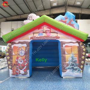 Открытый портативное Рождество надувного дома для продажи коммерческого надувной Санты дома дешевых надувных Санта грот палатки