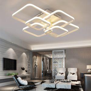 Remote Touch Dimming moderne plafon LED Plafonnier Luminaire Aluminium salle à manger Salon Chambre Lumières Luster Lamparas De Techo