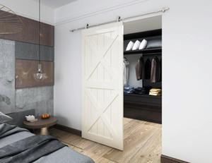 5FT 8FT 10FT верхнее крепление раздвижные двери сарая интерьер шкаф двери колесо из нержавеющей стали сарай древесины комплект раздвижных трек для гипсокартона