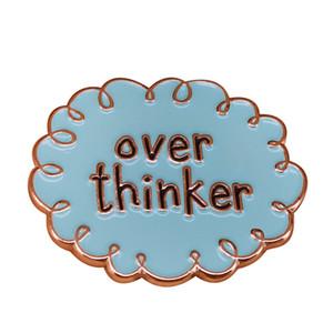 Ao longo pensador emblema nuvem humor pino engraçado introvertido novidade Citação broche de presente de aniversário de Natal