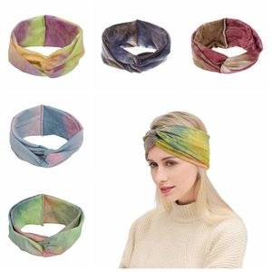 Tie Dye Cycling Yoga Sport Sweat Headband woman girls Sweatband girls Yoga Hair Bands Head Sweat Bands Sports headband