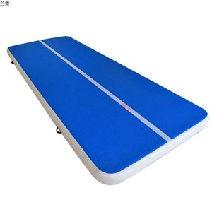 Kostenloser Versand 4 * 1 * 0.2m Inflatable Air Track Gymnastik Inflatable Air Track Tumbling Mat Gym AirTrack For Sale