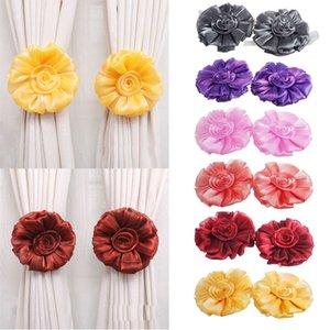 1pair Fenêtre Fleur Rose rideau Embrasse Boucle de serrage Crochet Fastener Décor