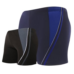 Men's slim boxer loose swimming trunks adult obesity men's hot spring swimming suit YK1758