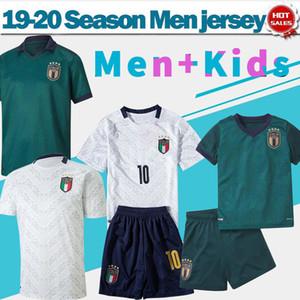 2020 İtalya erkek ve çocuklar üçüncü yeşil Futbol Formalar 19/20 10. INSIGNE # 19 Bonucci uzakta beyaz Futbol Gömlek milli takım Futbol Üniformalar