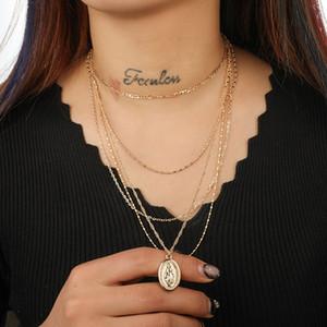 Vintage multistrato Suit monili della collana di personalità Collane Notre Dame femmina collana pendente per le donne Regali DHL poco costoso all'ingrosso