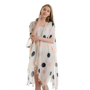 Oversize Foulard en soie femmes Châles été paréo en mousseline de soie Capes plage Crème solaire Silencieux Bikini couverture multifonctions Echarpes Mode