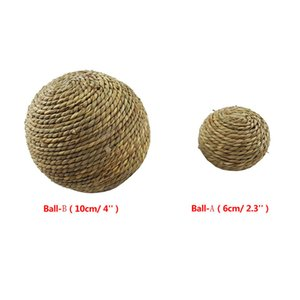 Natural Grass Ball with Bell Pet Chew Toy for Rabbit Hamster Guinea Pig for Tooth Cleaning For Small Animal 6cm 10cm