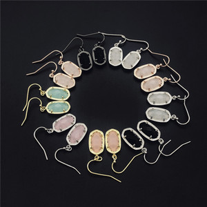 Мода Стиль Кендра Гладкая поверхность Золотые серьги мотаться Подпись для женщин Свадеб Jewelry Drop Доставка