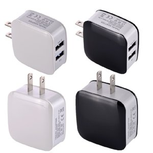 wall charger Dual usb ports EU & US 2.4A+1A Ac home power adapter for iphone 6 7 8 x for samsung s8 note 8 android phone