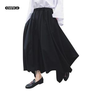 Nouveau Défilé de mode Hommes Femmes Pantalons Jupe Casual Male loose Wide Leg Harem Pantalon Japon Harajuku rue Pantalon Kimono