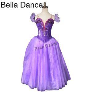 Purple Romantic Ballet Tutu long Dress Red Ballet Ballerina Tutu Dress Girls Professional Dance TutusBT9088B