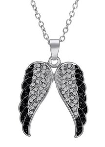 Diamond Angel Wings Necklace Men's Domineering Pendant