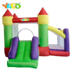 Jardim colorido Gonflable Jumping Bounce Casa Outdoor Inflável Bouncer Slide Slide Castelo Bouncy para Jogo Engraçado