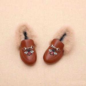Девушки Новые Дети Boots Пчелы вышивка девочек Обувь Детские ботинки мальчиков Детские ботинки малыша младенца Ботинки Зимняя обувь