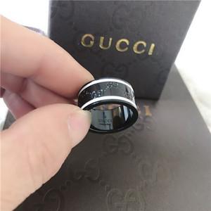Top qualité 316L inoxydable Styles acier G Mode 4 couleurs Stamp Anneau pour les femmes et les hommes plaqué or Bijoux mariage gucci 1478