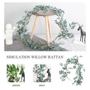패션 인공 버드 나무 덩굴 1.7M 웨딩 그레이 / 그린 크리에이티브 파티 인공 유칼립투스 등나무 시뮬레이션 버드 나무 잎