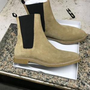 Adam Kanye West Hakiki Süet Wyatt Lüks Paris New Moda Marka Nevada Jodhpur Boots Ayakkabı Boots Olmalıdır
