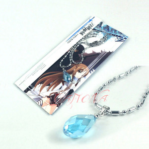 Синий Rhinestone ожерелье Меч Art Online Асуна Косплей Jewelry