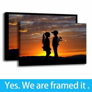 Art Print on Canvas Landscape Sunset Painting Childrens Bedroom Decor Framed Art - Ready To Hang - Support Customization