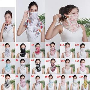 Женщины шарф маска шифон Handkerchief ветрозащитный Половина лица пыленепроницаемом Зонт Маски Dust маски партии маски DA579
