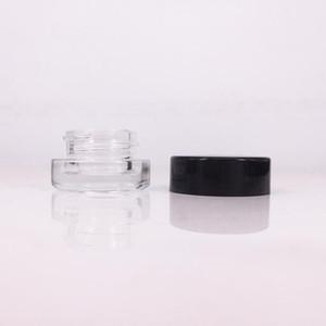 Effacer Jar Crème Contour des Yeux 3g 5g verre vide Baume Lèvres Container Wide Mouth cosmétiques pot échantillon avec fond épais