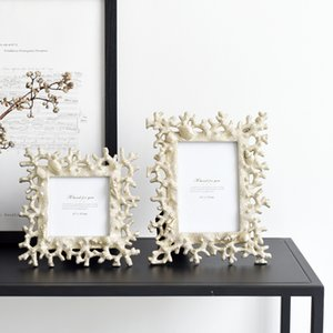 Ins Nordic light  living room home model room golden creative 6 inch photo frames set table soft decorative ornaments Home Décor