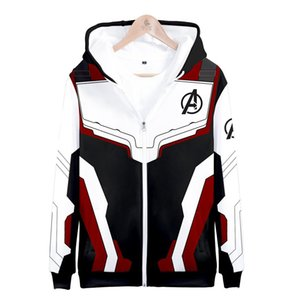 Avengers 4 Endgame Quantum Realm 3D Print Hoodies Super hero hoodies Men women Zipper Sweatshirts Coat Cosplay Costume A7