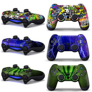 플레이 스테이션 4 게임 패드 콘솔 피부 슬림를 들어 PS4 컨트롤러 스티커 커버 조이스틱 소니 PS4 커버 액세서리 스티커