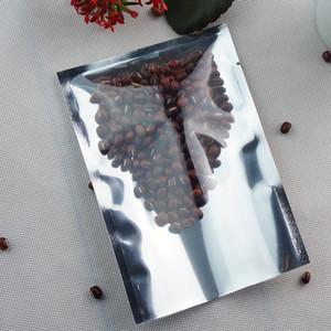 Sacs d'emballage alimentaire, pochette plate en papier aluminium argenté de 7 * 10 cm - 200pcs / lot