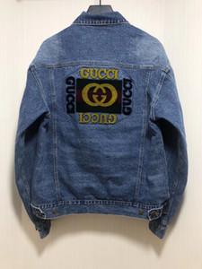 2019 mens invernali di design di lusso alfabeto giacca di jeans affollano ~ giacche formato US ~ top giacche di marca per gli uomini