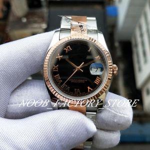 Роскошный завод BP шоколадный циферблат розовое золото нержавеющая сталь 36 мм наручные часы 2813 Механизм Автоматический дайвинг водонепроницаемые мужские часы
