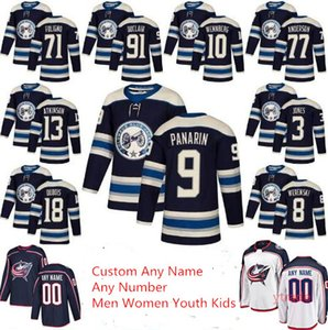 Custom 2019 Columbus Blue Jackets Third Alternate Artemi Panarin Cam Atkinson Pierre-Люк Дюбуа Сет Джонс Зак Веренски Ник Фолиньо Джерси