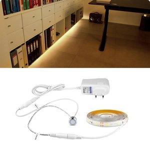 Interruptor LED luz del gabinete llevó la tira regulable táctil de cocina Armario Armario Armario Escritorio cinta TAPE + 12v adaptador de corriente de la UE