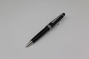 145 MB Bolígrafo borde de plata Classique Meister Línea Platino LeGrand con resina negro mejor calidad de estrella fina
