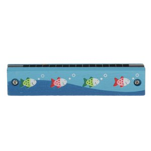 Гармоника, Музыкальные Развивающие игрушки / Деревянные Гармоника Музыкальные игрушки для детей 3-7 лет, Рыбы