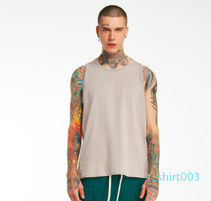 Men Summer Fashion Tank Tops Casual Active Sleeveless Vest Irregular High Street Tanks Tees Sports Wear t03
