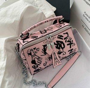 New Fashion Handbags Purses Women Summer Bag Fashion Graffiti Shoulder Bags Ladies Paris Graffiti Totes