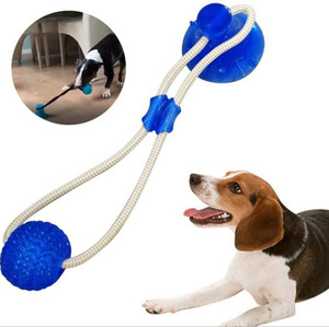 Pet Molar Bite Toys Multifunction Pet Molar Toy Biting Toys Rubber Chew Ball Cleaning Teeth Safe Elasticity Dental Care Suction Cup B7383